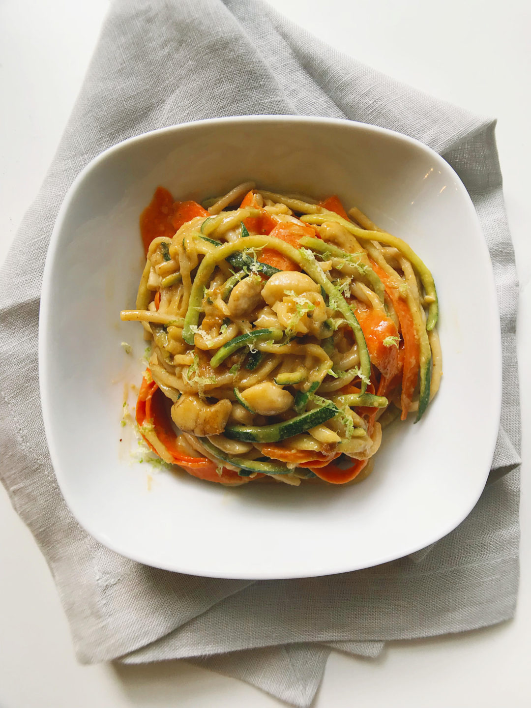 Cashew Garlic Zoodles   Marianne Cooks