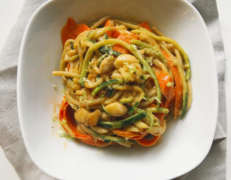 Cashew Garlic Zoodles | Marianne Cooks