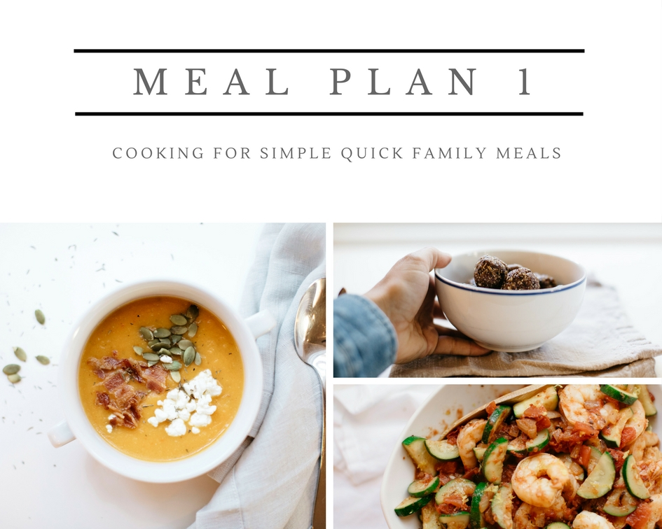 Marianne's Meal Plan 1 | Marianne Cooks